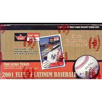 2001 Fleer Platinum Baseball Hobby Box