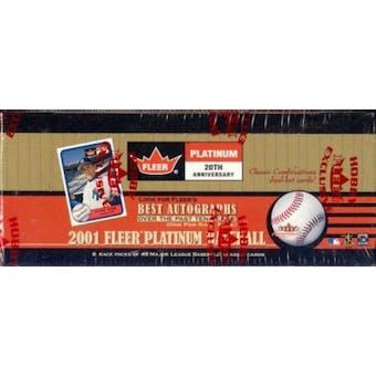 2001 Fleer Platinum Baseball Rack Box (one autograph per rack!)