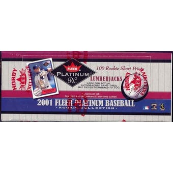 2001 Fleer Platinum Rookie Collection Baseball Rack Box