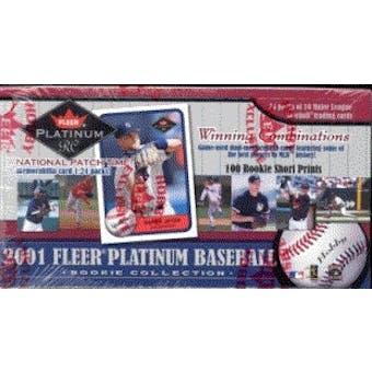 2001 Fleer Platinum Rookie Collection Baseball Hobby Box