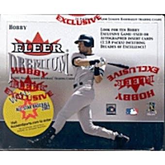 2001 Fleer Premium Baseball Hobby Box
