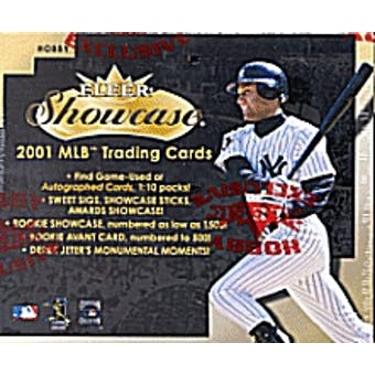 2001 Fleer Showcase Baseball Hobby Box