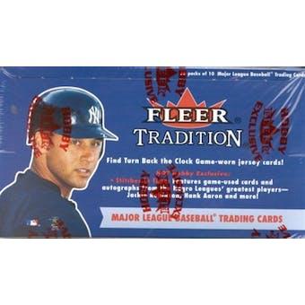 2001 Fleer Tradition Baseball Hobby Box