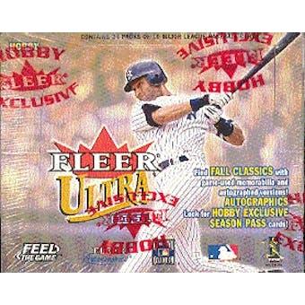 2001 Fleer Ultra Baseball Hobby Box