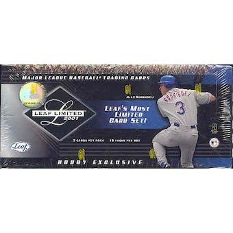 2001 Leaf Limited Baseball Hobby Box (Reed Buy)