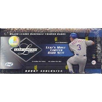 2001 Leaf Limited Baseball Hobby Box