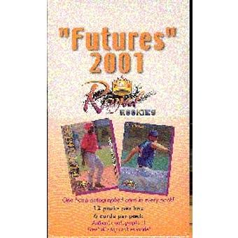 2001 Royal Rookies Futures Baseball Hobby Box