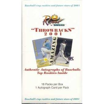 2001 Royal Rookies Throwbacks Baseball Hobby Box