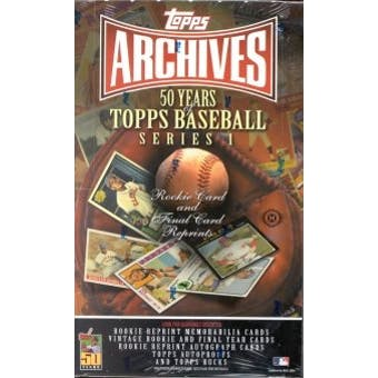 2001 Topps Archives Series 1 Baseball Hobby Box
