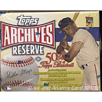 2001 Topps Archives Reserve Baseball Hobby Box