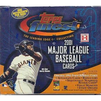 2001 Topps Finest Baseball Hobby Box