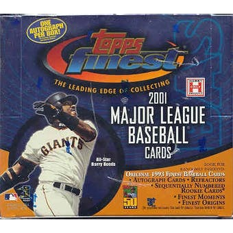 2001 Topps Finest Baseball Hobby Box
