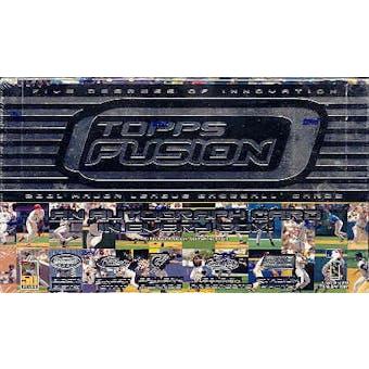 2001 Topps Fusion Baseball Hobby Box