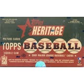 2001 Topps Heritage Baseball Hobby Box (Reed Buy)