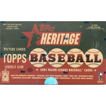 2001 Topps Heritage Baseball Hobby Box