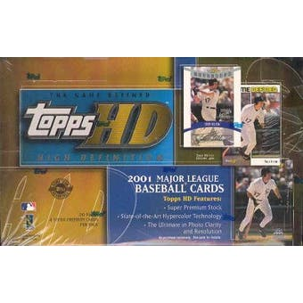2001 Topps HD High Definition Baseball Hobby Box