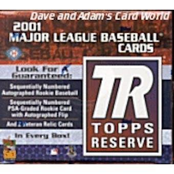 2001 Topps Reserve Baseball Hobby Box