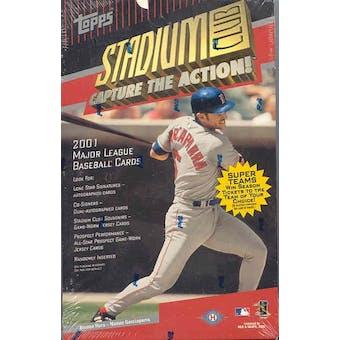 2001 Topps Stadium Club Baseball Hobby Box