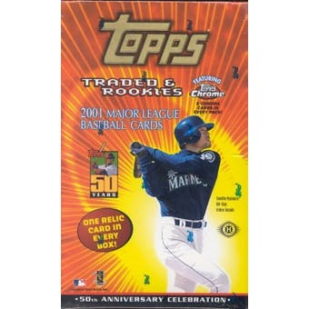 2001 Topps Chrome Traded & Rookies Baseball Hobby Box