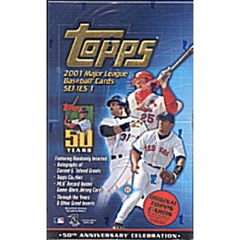 2001 Topps Series 1 Baseball Hobby Box