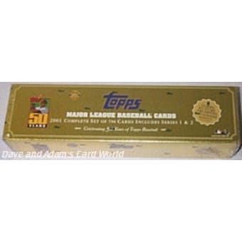 2001 Topps Baseball HTA Factory Set (Box) (Gold)