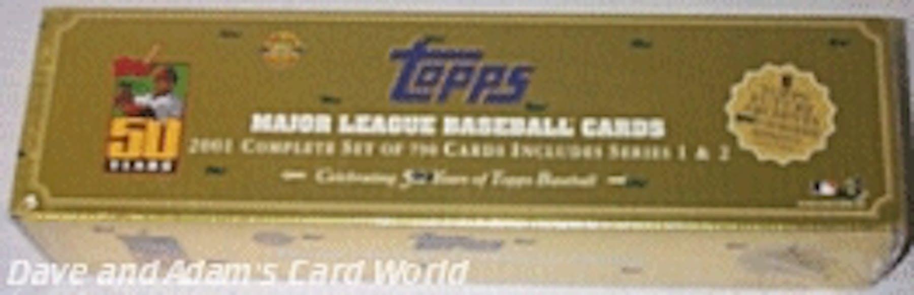 2001 Topps Baseball Hta Factory Set Box Gold