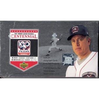 2001 Upper Deck Minor League Centennial Baseball Hobby Box