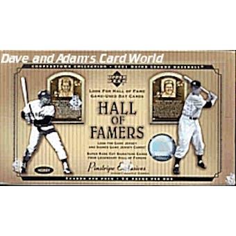 2001 Upper Deck Hall Of Famers Baseball Hobby Box