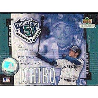 """2001 Upper Deck Tribute to """"51"""" Ichiro Baseball Box Set"""