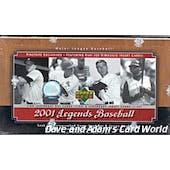 2001 Upper Deck Legends Baseball Hobby Box (Reed Buy)