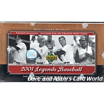 2001 Upper Deck Legends Baseball Hobby Box