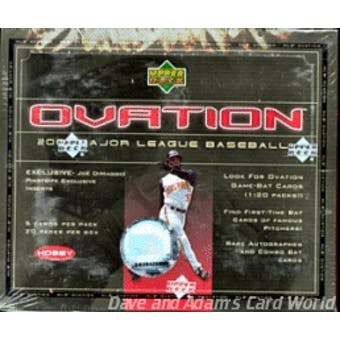 2001 Upper Deck Ovation Baseball Hobby Box