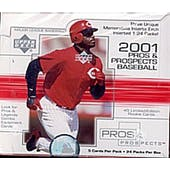 2001 Upper Deck Pros & Prospects Baseball Hobby Box (Reed Buy)