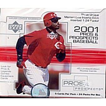 2001 Upper Deck Pros & Prospects Baseball Hobby Box
