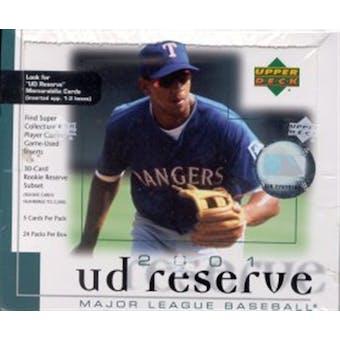 2001 Upper Deck Reserve Baseball Hobby Box