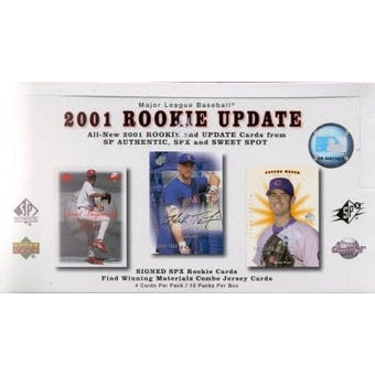 2001 Upper Deck Rookie Update Baseball Hobby Box