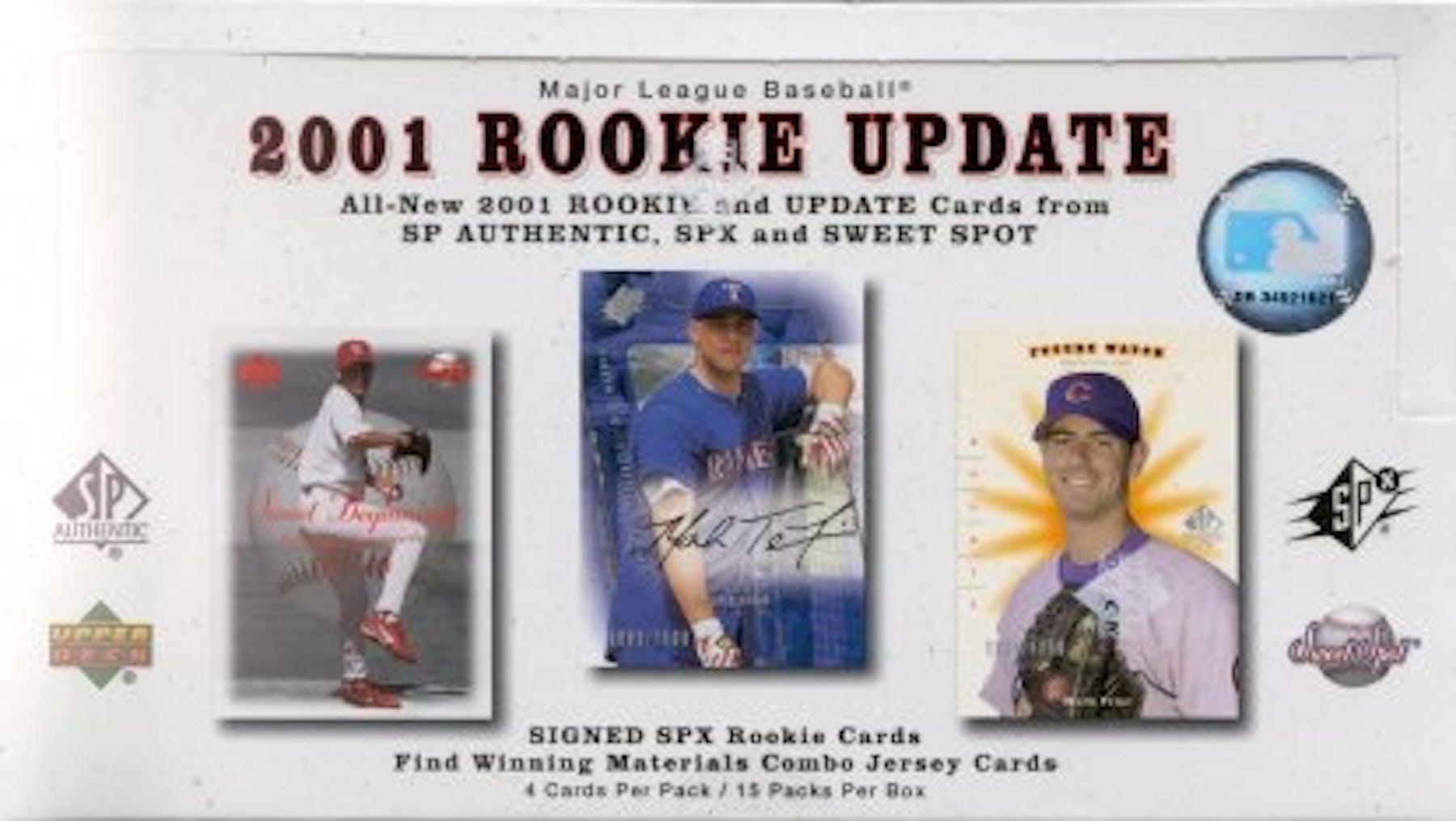 2001 Upper Deck Rookie Update Baseball Hobby Box Da Card World