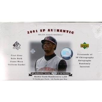 2001 Upper Deck SP Authentic Baseball Hobby Box