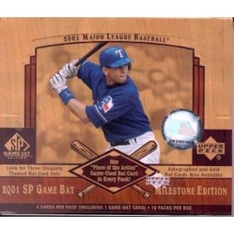 2001 Upper Deck SP Game Bat Milestone Edition Baseball Hobby Box
