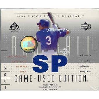 2001 Upper Deck SP Game Used Baseball Hobby Box