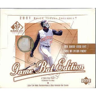 2001 Upper Deck SP Game Bat Baseball Hobby Box