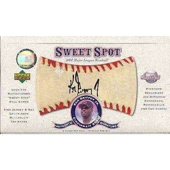 2001 Upper Deck Sweet Spot Baseball Hobby Box
