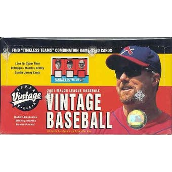 2001 Upper Deck Vintage Baseball Hobby Box