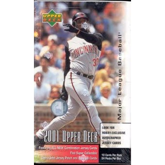 2001 Upper Deck Series 1 Baseball Hobby Box