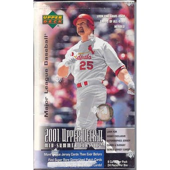 2001 Upper Deck Series 2 Baseball Hobby Box