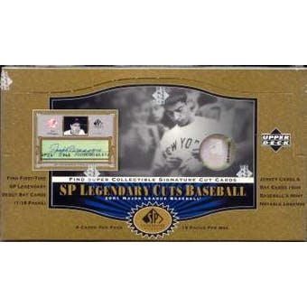 2001 Upper Deck SP Legendary Cuts Baseball Hobby Box