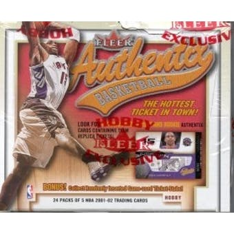 2001/02 Fleer Authentix Basketball Hobby Box