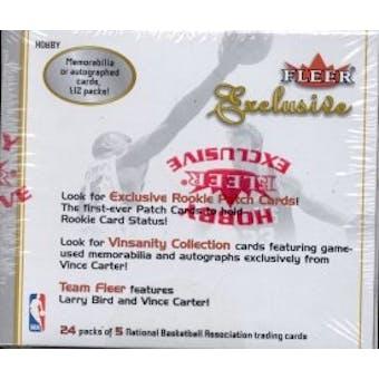 2001/02 Fleer Exclusive Basketball Hobby Box