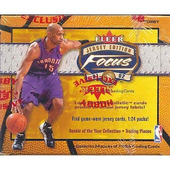 2001/02 Fleer Focus Jersey Edition Basketball Hobby Box