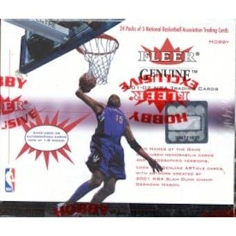 2001/02 Fleer Genuine Basketball Hobby Box